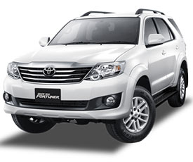 Toyota Fortuner Car on Rent