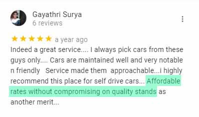 best review for car rental