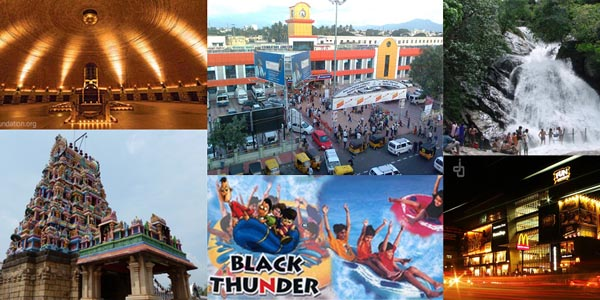famous places in coimbatore